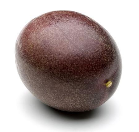 Whole passion fruit isolated on white background