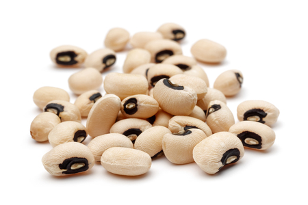 Black-eyed peas, cowpeas isolated on white background