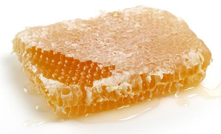 Honeycomb isolated on white background Stock Photo