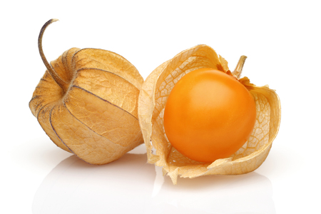 Physalis fruit or golden berry isolated on white background Stockfoto