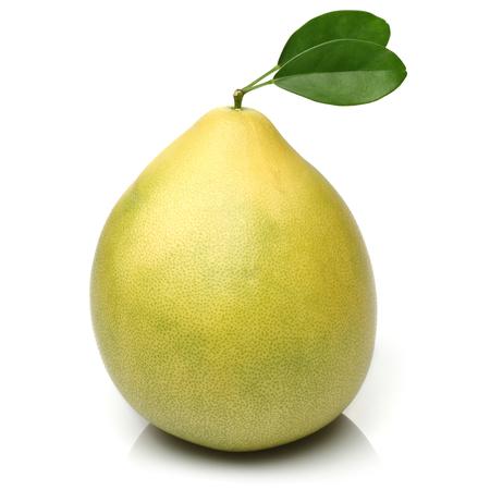 Fresh pomelo fruit isolated on white background