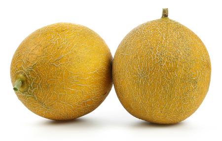 Melon fruits isolated on white background