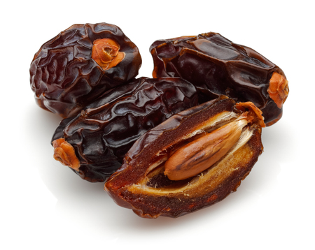 Dried date fruit isolated on white background 免版税图像