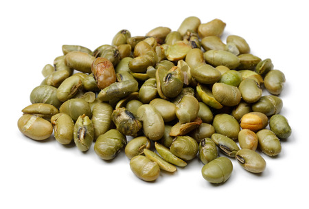 Heap of Mung beans isolated on white background