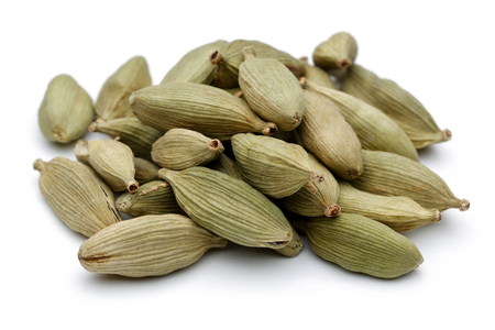 Cardamom pods isolated on white background 写真素材