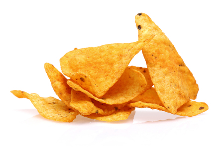 Taco Chips isolated on white background Фото со стока