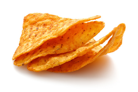 Taco Chips isolated on white background