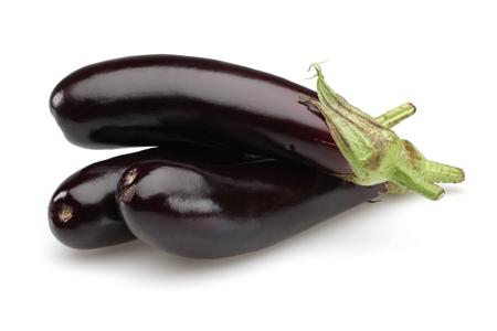 Eggplant or Aubergine vegetable isolated on white background Stock Photo