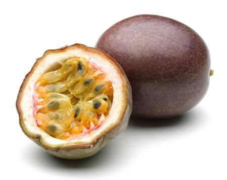 Fresh Passion fruits isolated on white background