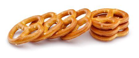 Pretzel crackers isolated on white background Reklamní fotografie