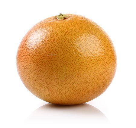 Single grapefruit isolated on white background Stock Photo