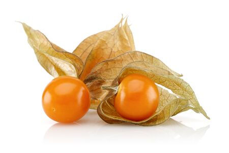 Physalis fruit or winter cherry isolated on white background Stok Fotoğraf - 128993775