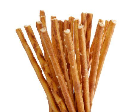 Stick cracker, pretzel, isolated on white background