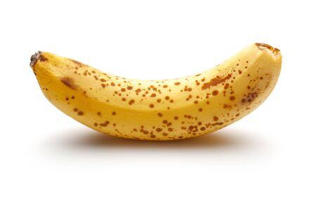 Overripe banana isolated on white background Imagens
