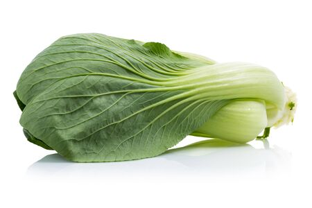 Bok Choy or Chinese cabbage isolated on white background Stok Fotoğraf - 130426348