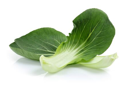 Bok Choy or Chinese cabbage isolated on white background Stok Fotoğraf - 130426352