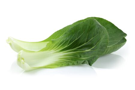 Bok Choy or Chinese cabbage isolated on white background Imagens