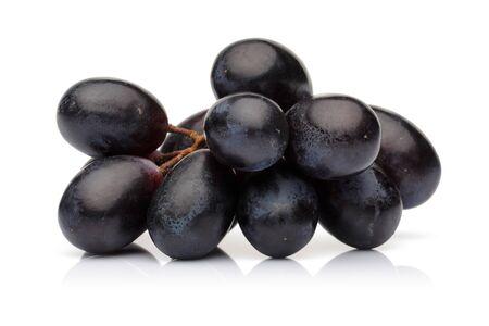 Fresh black grape isolated on white background Stok Fotoğraf - 130426479
