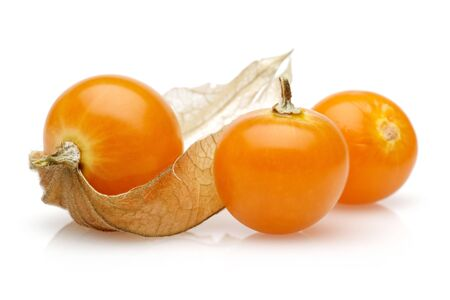 Physalis fruit or golden berry isolated on white background 版權商用圖片