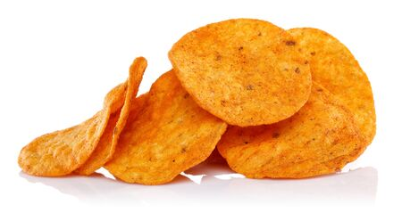 Corn chips isolated on white background 版權商用圖片 - 138328062