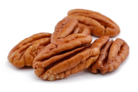 Pecan nut isolated on white background 版權商用圖片 - 146206265
