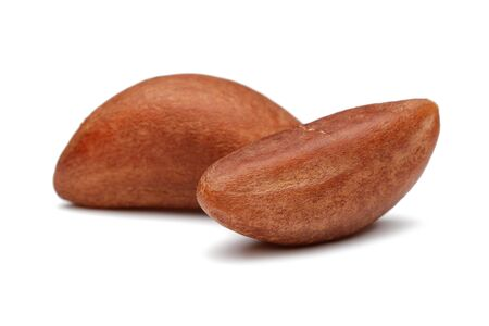 Brazil nuts isolated on white background