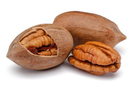 Pecan nut isolated on white background Imagens - 148173868