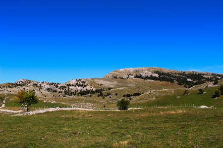 Landscape on the mountain. Autumn. Bjelasnica Mountain, Bosnia and Herzegovina.