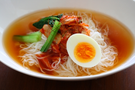 Korean cold noodles photo