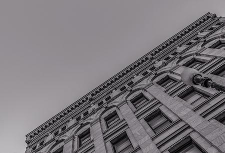 Diagonal View of Genesee Tower in Downtown Utica, Upstate New York Stock fotó