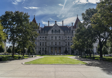 ALBANY, NEW YORK - SEPTEMBER 27, 2018: The New York State Capitol Building in Albany, home of the New York State Assembly.