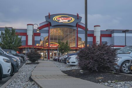 NEW HARTFORD, NEW YORK - AUG 16, 2019: Marquee Cinemas began in 1979 operating in 9 states and we have over 550 team members.