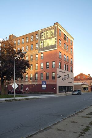 Utica, New York - Oct 23, 2019: View of Whiffen Robyat Building is Listed on the National Register of Historic Places, Located on 327 Bleecker St, Utica NY 13501. Redakční