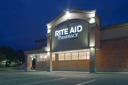 New Hartford, New York - Oct 14, 2019: Rite-Aid Corporation is the largest American Pharmaceutical and Drugstore Chain in the US.