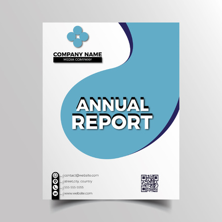 Elegante blauwe bedrijfsbrochure Stock Illustratie