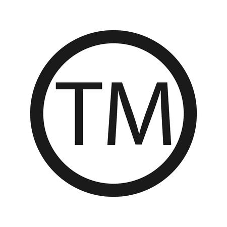 Trademark Symbol Icon, TM