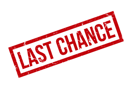 Last Chance rubber Stamp Text Vactor Illustration, Red Last Chance Stamp Illustration