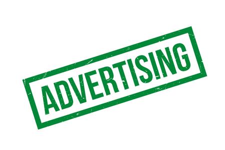 Green Advertising stamp isolated over white Illustration