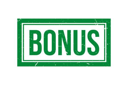 Bonus rubber vector stamp, green bonus vector icon Ilustração