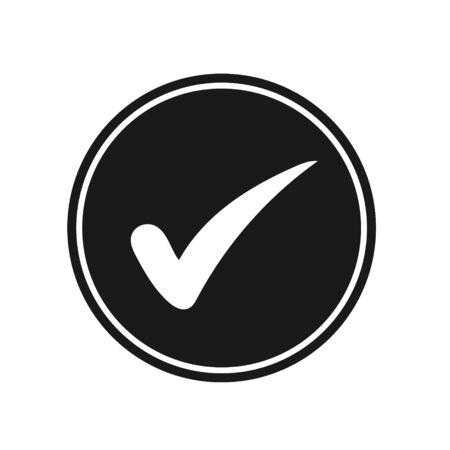 Flat Tick Mark Check Icon Tick Mark– Vector
