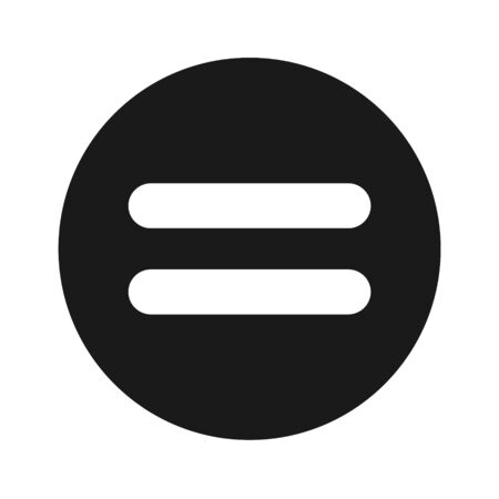 Equal Icon, Flat Illustration Of Equal Icon – Vector