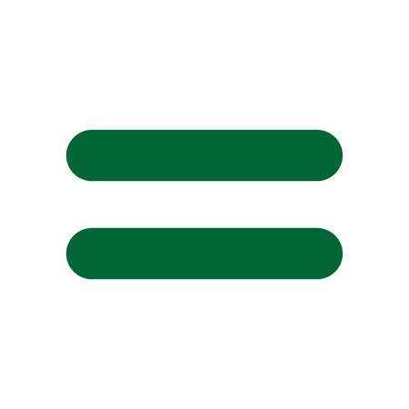 Green Equal Icon, Flat Illustration Of Equal – Vector Vectores