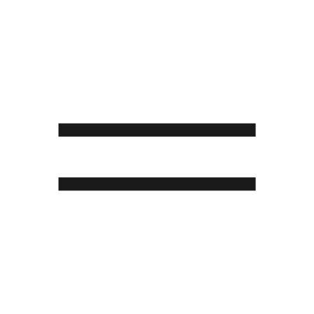Equal Icon Vector. Flat Equal Symbol, Illustration – Vector 向量圖像