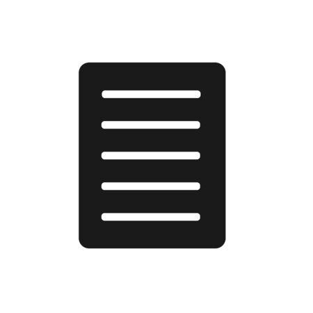 Document Icon Vector. Flat Document Symbol, Illustration – Vector Stock Illustratie