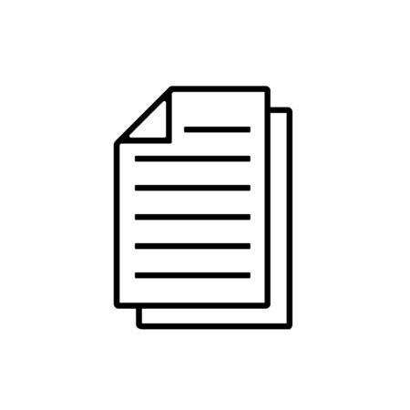 Paper Icon, Page Icon Vector Illustration – Vector Stock Illustratie