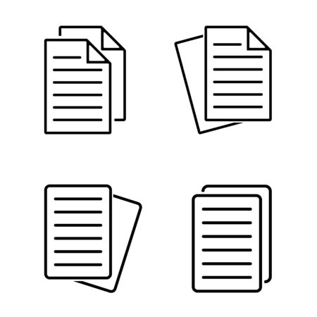 Document Icon Set Vector. Flat Note Icon – Vector