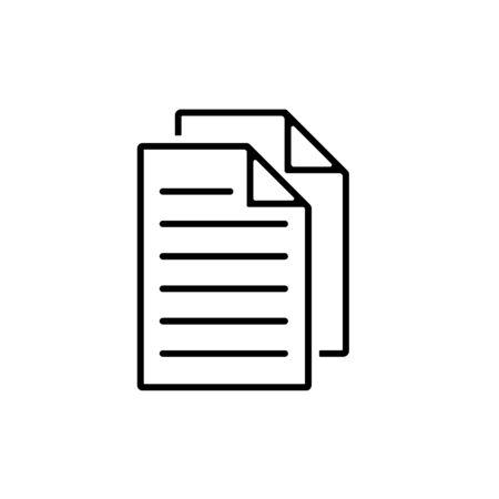 Duplicate Icon. File Copy Icon, Document - Vector