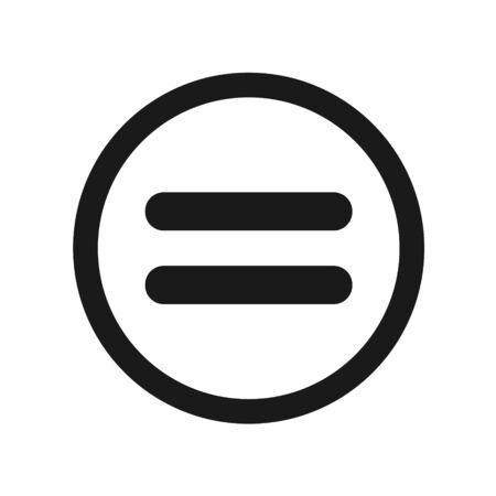 Equal Icon Vector Illustration Design, Flat Equal Icon - Vector
