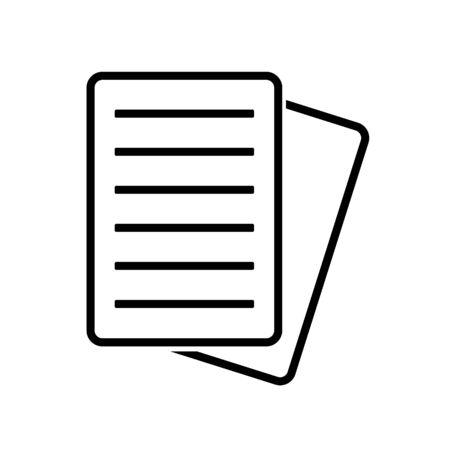 Document Icon, Flat Illustration Of File Copy, Vector Icon, Document Sign Symbol – Vector Stock Illustratie