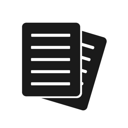 Document Icon. Flat Note Paper Document Icon - Vector Stockfoto - 142073341
